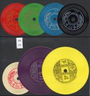 1973 Talking Stamps Bhutan Vinyl Records Set/7 - Mi. 557-563 - Dragon Folk Song Fish Etc.  MNH