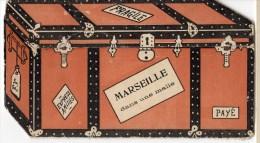 13 MARSEILLE Dans Une MALLE  Carte à SYSTEME La Malle S'ouvre Sur 5 Vues De La Ville - Otros