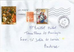 FRANCE. Saint Nicolas (imagerie De Metz) Sur Lettre Adressée En Andorre, Avec Timbre à Date Arrivée - Christmas