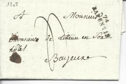 74 Barentin 29x3x8 Lac Pour Bayeux 1808 Indice 13 - Postmark Collection (Covers)