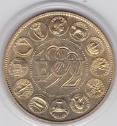 Ecu EUROPA III 1992 Bronze Vénitien Sous Boite Graveur P.RODIER Certificat  41 Mm - Monétaires / De Nécessité