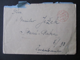 BRIEF 17.5.1945 Provisorium Nachgebühr Doplatne  /// D*15176 - Tschechoslowakei/CSSR