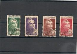 FRANCE  1945 N° Y&T : 730/733 Oblitérés