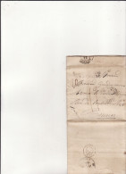 """MARQUE D ' Entrée """" PAYS D'OUTRE MER Par LE HAVRE """" 1838 + Cachet Bureau Maritime LE HAVRE (ecrite De RIO De Janeiro ) - Marcophilie (Lettres)"""