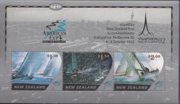 NOUVELLE-ZÉLANDE Michel Nr: Bloc 141 America´s Cup 2002 Neuf Sans Charniere-MNH-Postfris - Nieuw-Zeeland