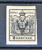 Austria N. 2 Kr 2 Nero MH Firmato Biondi E Kohler. Leggera Piega In Alto Con Gomma Screpolata - Nuevos