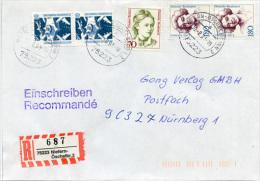 K2807 Einschr. Brief Bund St. Niefern Öschelbronn - Covers