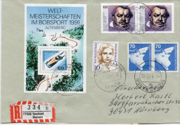 K2808 Einschr. Brief Bund St. Seebad Bansin - Lettere