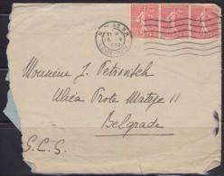 6668. France, 1929, Letter From Nantes To Belgrade - Storia Postale