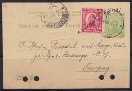 6679. Yugoslavia, Kingdom Of Serbs, Croats And Slovenes, 1921, Postal Stationery - 1919-1929 Kingdom Of Serbs, Croats And Slovenes
