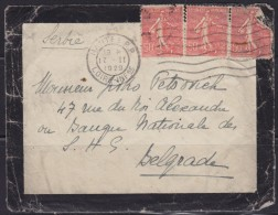 6690. France, 1929, Letter From Nantes To Belgrade - Storia Postale