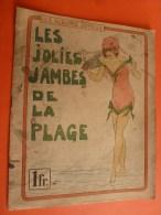 """Av. 1900 ? Rare édition LES ALBUM JOYEUX  Les Jolies Jambes De La Plage ....imp """"La Semeuse"""" à Etampes - Livres, BD, Revues"""