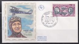 = Aviatrice Maryse Hilsz Paris-Saigon Sur Moth-Morane Enveloppe 1er Jour Levallois Perret 10.06.72 PA47 Hélène Boucher - 1970-1979