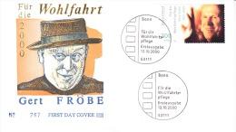 Enveloppe Premier Jour D'Allemagne-Gert Froebe-12/10/2000