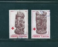 France  Timbres De 1980  Oblitéré N°2116 Et 2117 Croix Rouge - Gebruikt