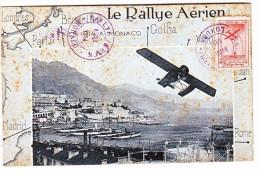 Monaco Entero Postal Le Rallye Aerie Rare Monaco To Gotha 1914 - Non Classés