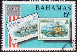 BAHAMAS 1986 SG #746 5c VF Used Ameripex '86 - Bahamas (1973-...)