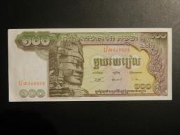 Billet - Cambodge - Valeur Faciale : 100 Riels - Jamais Circulé - Année ?? - Motif : Bayon Temple (Angkor) Et Barque - Cambodia