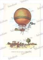Aerostato - Dirigibile Dirigible Ballon Balon Mongolfiera - Illustratore - Carrozza - Dirigibili