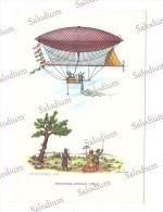 Aerostato Dirigibile Dirigible Ballon Balon Mongolfiera - Illustratore - Giffard - Dirigibili