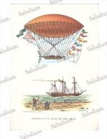 Aerostato Dirigibile Dirigible Ballon Balon Mongolfiera - Illustratore - Dupuy De Lome - Dirigibili