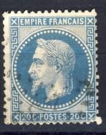 N °29B OBLITERE 1868   Avec Ou Sans Charnière  SCAN RECTO-VERSO CONTRACTUEL - 1863-1870 Napoléon III Lauré
