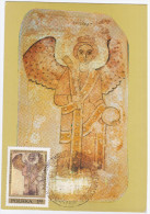 Poland 1987 Painting Paintings, Fresque De Faras, Fresco, Canceled In Warszawa - Cartes Maximum