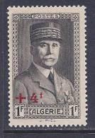 Algeria, Scott # B36 Mint Hinged Petain, Surcharged, 1941 - Algeria (1924-1962)