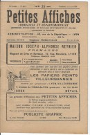 PETITES AFFICHES Lyonnaises Et Départementales - Zeitungen