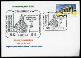 90152) BRD - SoST-Karte 24/395 - 49074 OSNABRÜCK Vom 28.12.2014 - Nagelung Des Wahrzeichens Karl Der Große - BRD