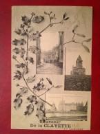 71 Saone Et Loire LA CLAYETTE (Souvenir De) La Rue Du Pont Et Chapelle - Autres Communes