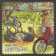 AUSTRALIA - DIECUT - USED 2012 60c Road Trip Australia - Margaret River - Motor Cycles - 2010-... Elizabeth II