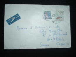 LETTRE POUR FRANCE + ETIQUETTE PAR AVION + TP VOILIER 10 PT + TP COTTON RICKING 10 PT OBL. 9 DEC 60 KHARTOUM - Soudan (1954-...)