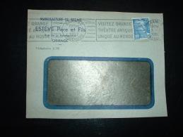 DEVANT L. TP MARIANNE DE GANDON 15F OBL.MEC.1-7-1952 ORANGE (84) MANUFACTURE DE BALAIS ESTEVE Père Et Fils - Marcophilie (Lettres)
