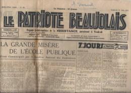 Le Patriote Beaujolais ,organe De La Résistance - Giornali