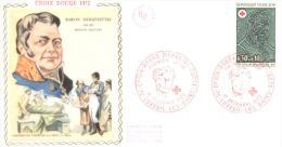 FDC -  Enveloppe 1er Jour 16 Décembre 1972 - 70 LUXEUIL LES BAINS - Croix Rouge Baron Desgenettes - 1970-1979