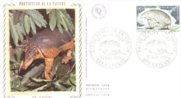 FDC -  Enveloppe 1er Jour 19 OCT 1974 - 973 CAYENNE - TATOU Géant De La Guyanne - FDC