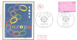 FDC -  Enveloppe 1er Jour 8 MAI 1971 - PARIS - EUROPA - 1970-1979