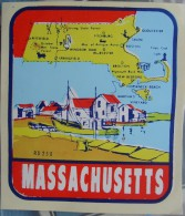 USA - Massachusetts - Water Sticker / Early 70s - Autocollants