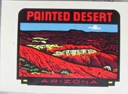 USA - Painted Desert / Arizona - Water Sticker / Early 70s - Aufkleber
