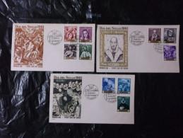FDC 1er Jour Espagne 3 Enveloppes Dia Del Sello 24/3/1961 - FDC
