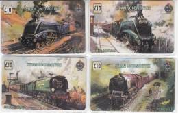 Steam Locomotives 4 Cards- Unitel Prepaid Card - Treni