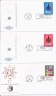 FDC -  3 Enveloppes 1er Jour - United Nations NEW YORK - 1970-1979