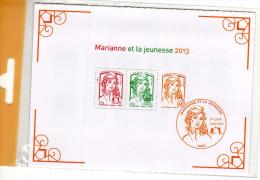 Feuillet France Marianne Et La Jeunesse 2013 - Blocs Souvenir