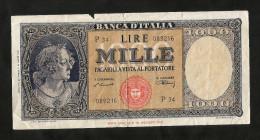 ITALIA - COPPIA Di FALSI D' EPOCA (identico Numero Di Serie) - 1000 Lire ITALIA (Decr. 20 / 03 / 1947) - [ 2] 1946-… : Repubblica