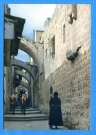 R108, Jordanie, Via Dolorosa Jerusalem, Animée, GF, Circulée 1969 - Jordanie