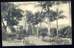 Cpa Antilles Saint Christophe Et Niévès St Kitts Sir Thomas ' Church   -- Middle Island   JA15 23 - Saint-Christophe-et-Niévès