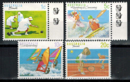 AUSTRALIEN 1990 - MiNr: 1139+1182+1183+1184 Sport   **/ MNH - Ungebraucht