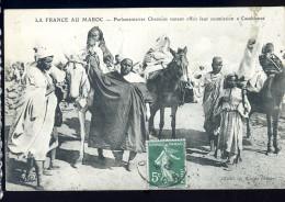 Cpa Du Maroc Parlementaires Chaouias Venant Offrir Leur Soumissions à Casablanca   JA15 24 - Non Classés