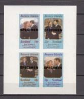 Bernera Islands,4V In Block Imperforated,royal Wedding,ovpt SPECIMEN,MNH/Postfris(L1527us) - Koniklijke Families